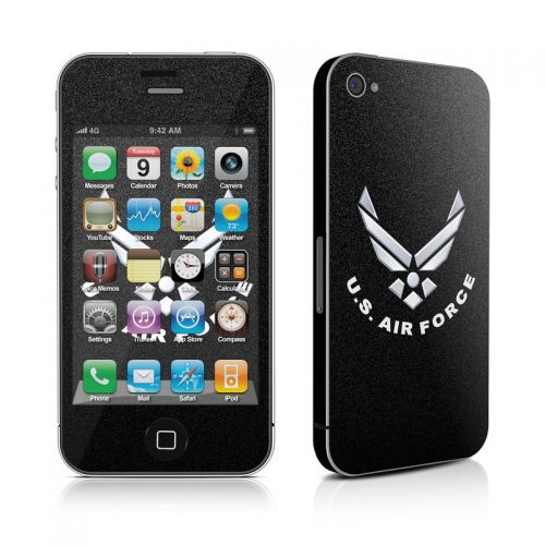 USAF Black iPhone 4s Skin