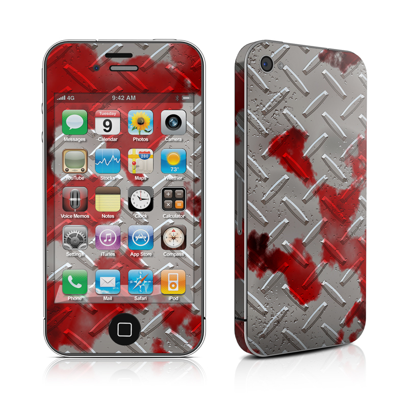 iPhone 4s Skin design of Red, Pattern, Carmine, Design, Plant, Jigsaw puzzle with gray, red colors