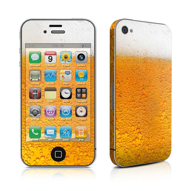 Beer Bubbles iPhone 4s Skin