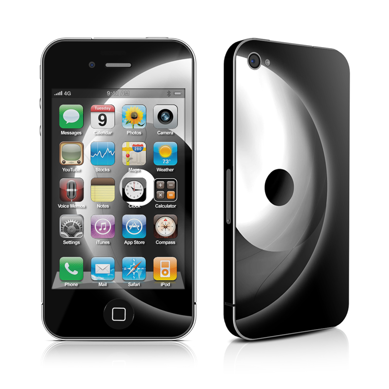 iPhone 4s Skin design of Black-and-white, Atmosphere, Font, Circle, Eclipse, Monochrome photography, Monochrome, Stock photography, Symbol, Darkness with black, white colors