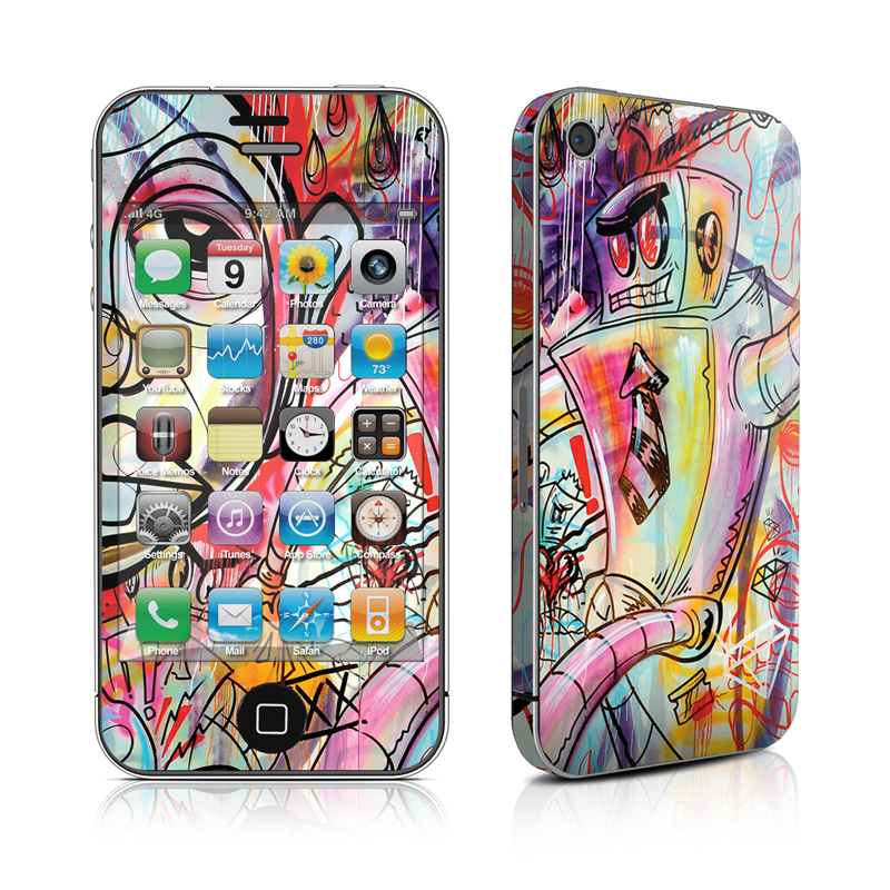 Battery Acid Meltdown iPhone 4 Skin