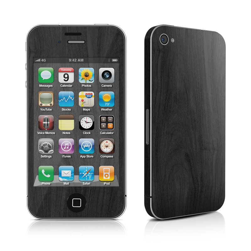 Black Woodgrain iPhone 4 Skin