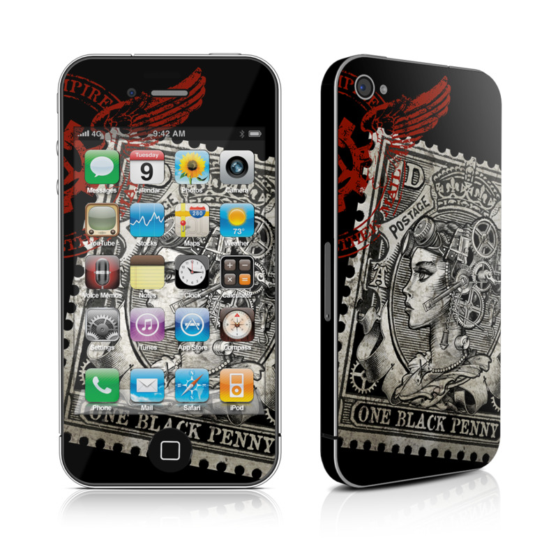 Black Penny iPhone 4s Skin