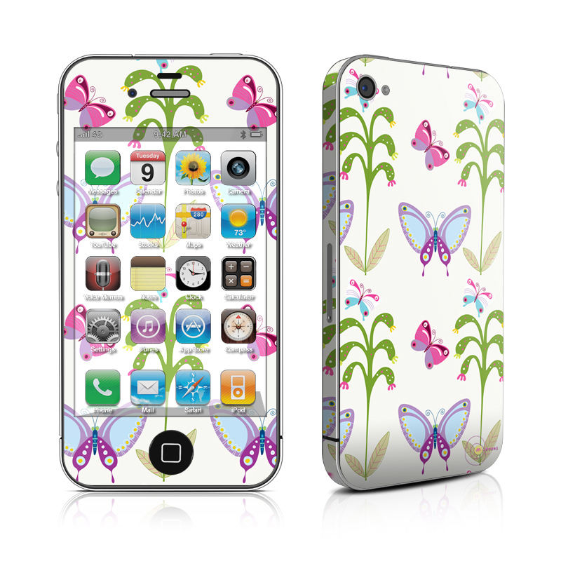 Butterfly Field iPhone 4 Skin