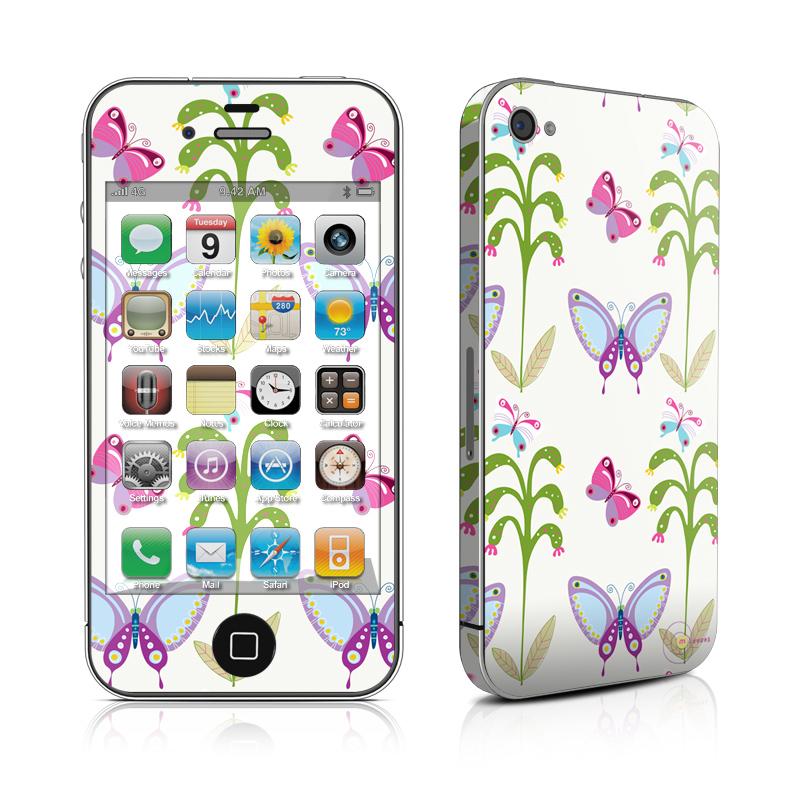 Butterfly Field iPhone 4 Skin
