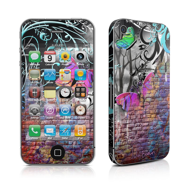 Butterfly Wall iPhone 4 Skin