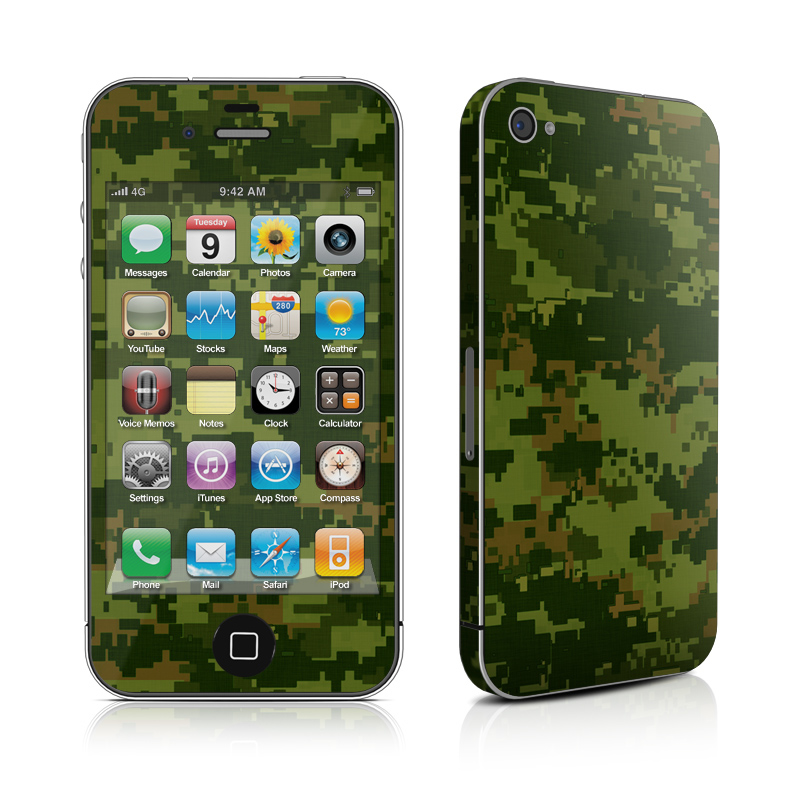 iPhone 4s Skin design of Military camouflage, Green, Pattern, Uniform, Camouflage, Clothing, Design, Leaf, Plant with green, brown colors