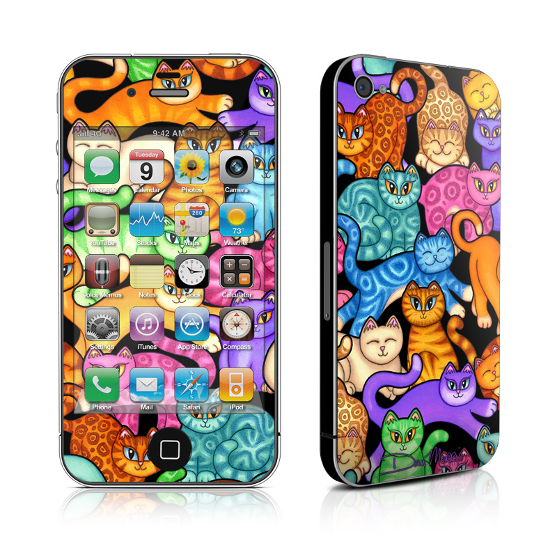 Colorful Kittens iPhone 4 Skin