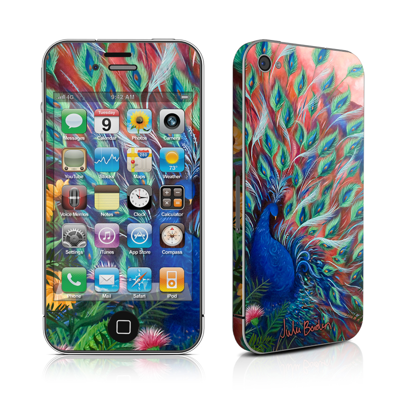Coral Peacock iPhone 4 Skin