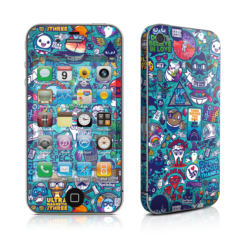 Cosmic Ray iPhone 4s Skin