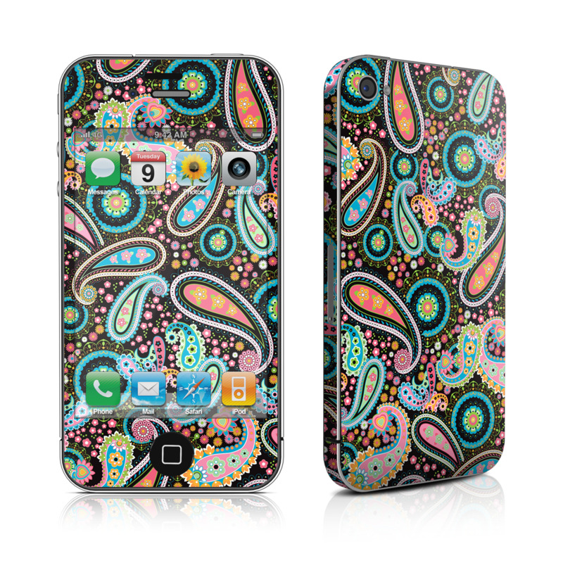 Crazy Daisy Paisley iPhone 4s Skin