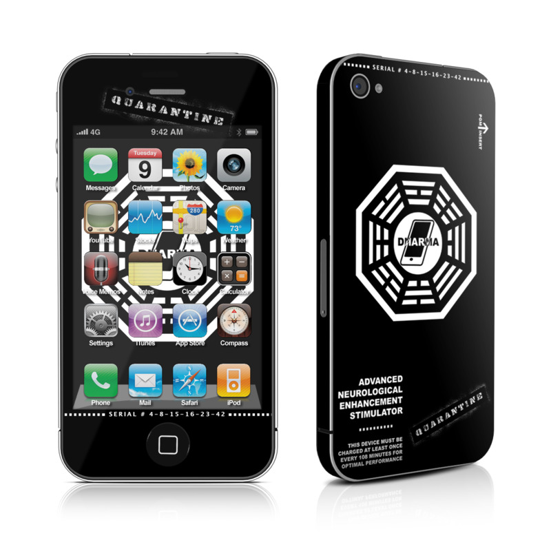 Dharma Black iPhone 4s Skin