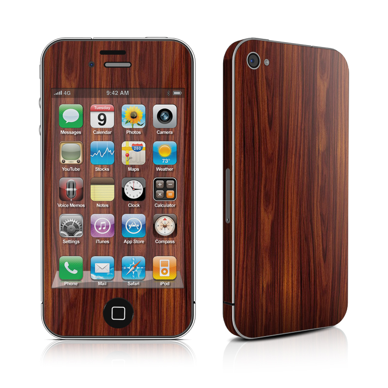 Dark Rosewood iPhone 4 Skin