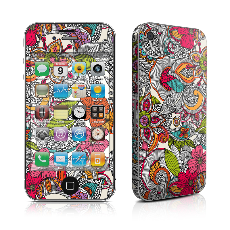 Doodles Color iPhone 4 Skin
