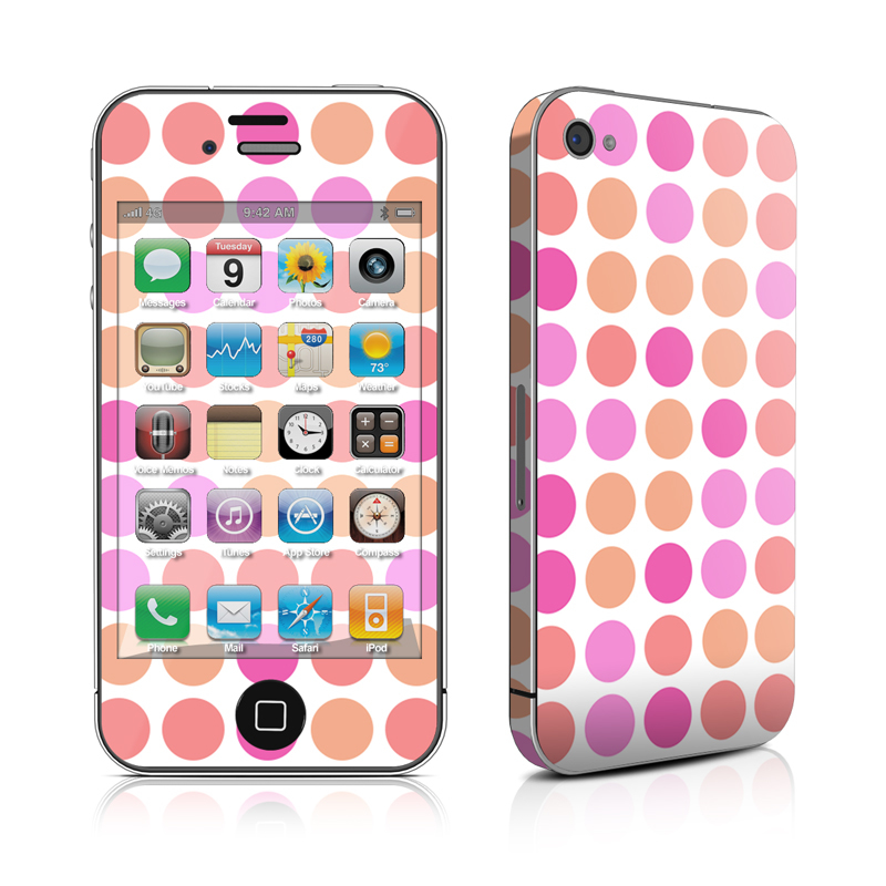 Big Dots Peach iPhone 4 Skin