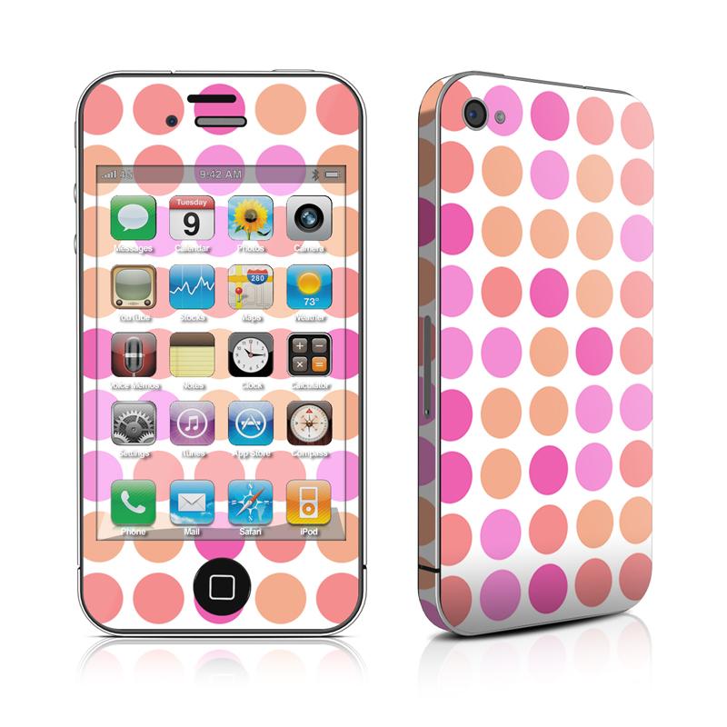 Big Dots Peach iPhone 4 Skin