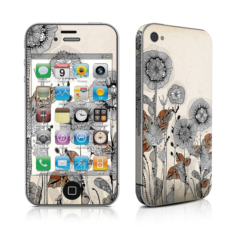 Four Flowers iPhone 4 Skin