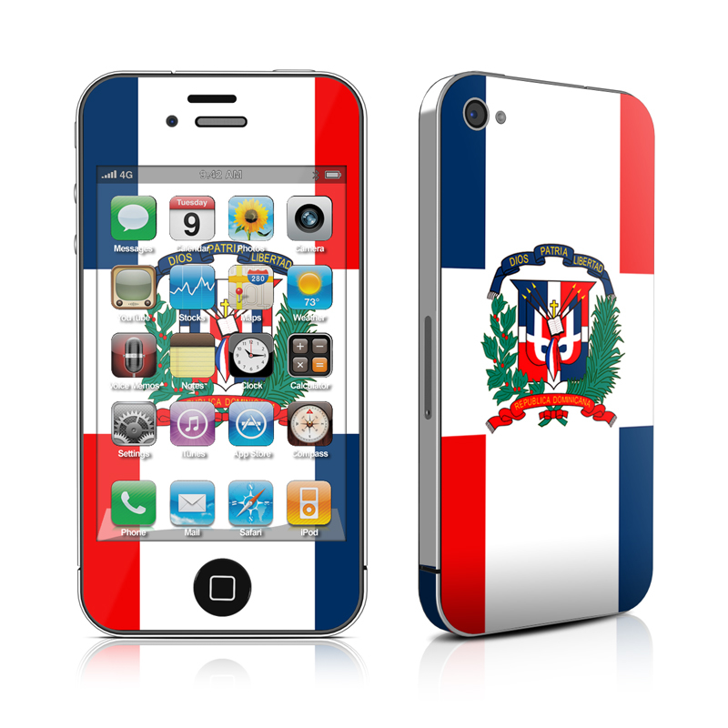 Dominican Republic Flag iPhone 4 Skin