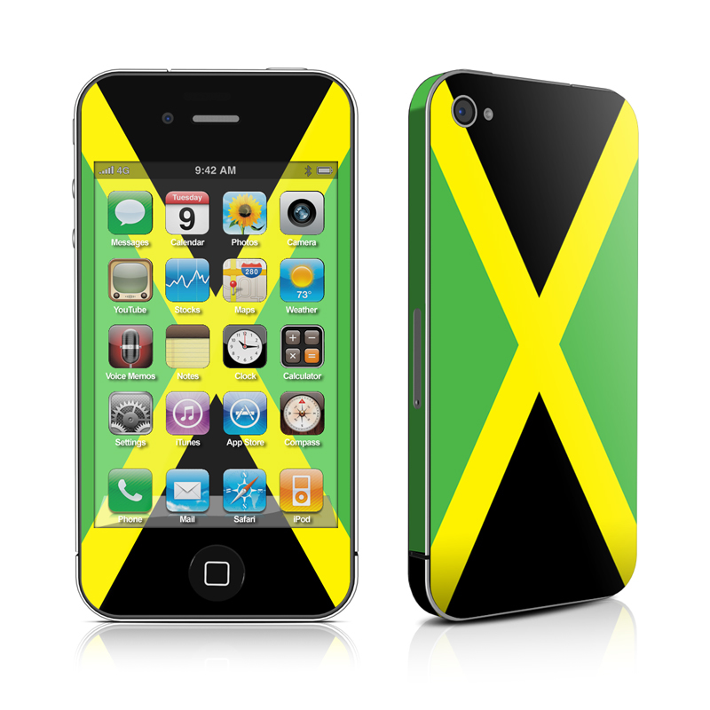 Jamaican Flag iPhone 4 Skin