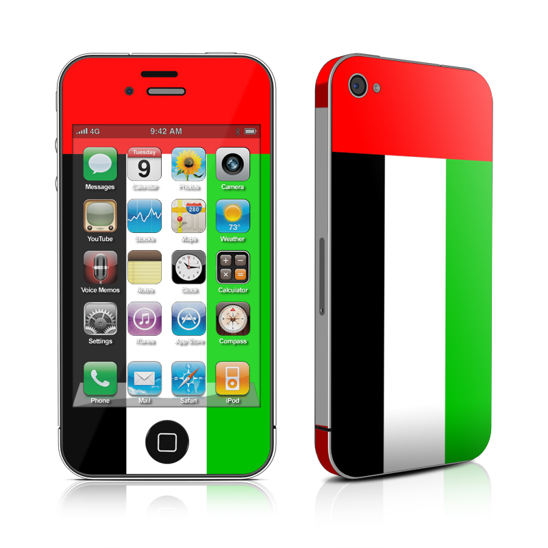 iPhone 4s Skin design of Green, Red, Flag, Yellow, Text, Orange, Font, Line, Rectangle, Pattern with red, green, white, black colors