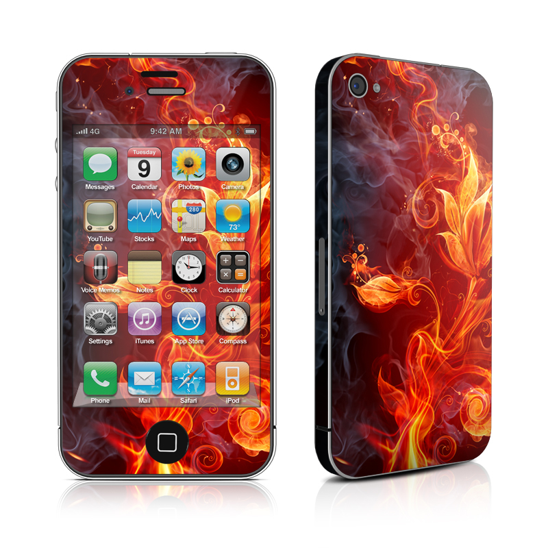 Flower Of Fire iPhone 4 Skin