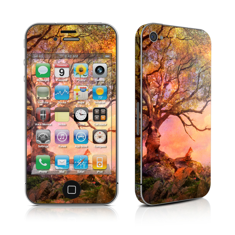 Fox Sunset iPhone 4 Skin