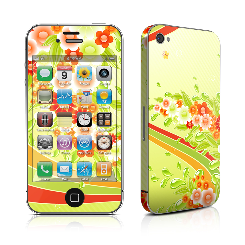 Flower Splash iPhone 4 Skin