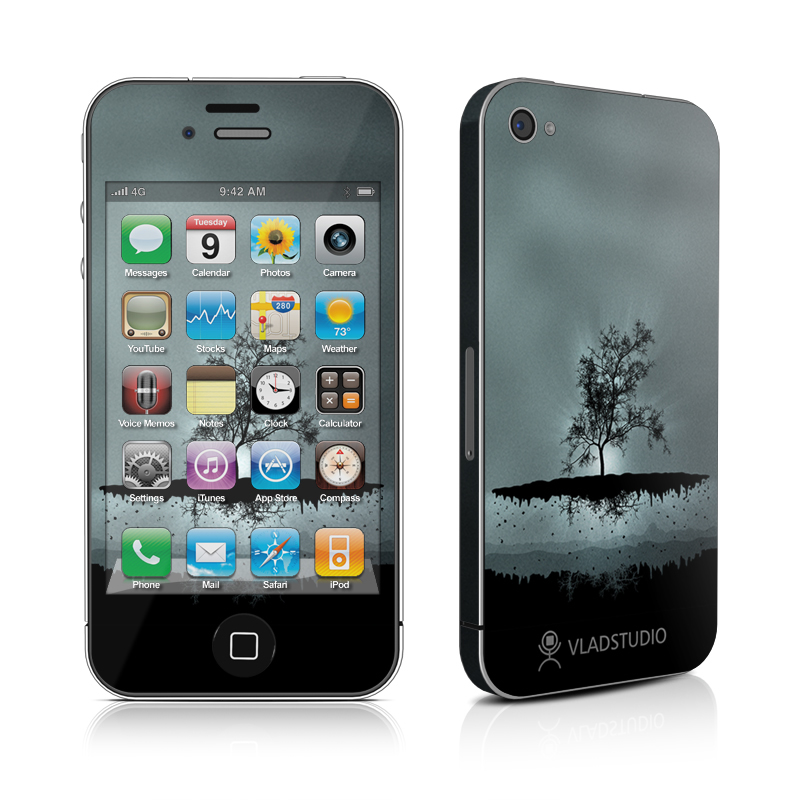 Flying Tree Black iPhone 4s Skin