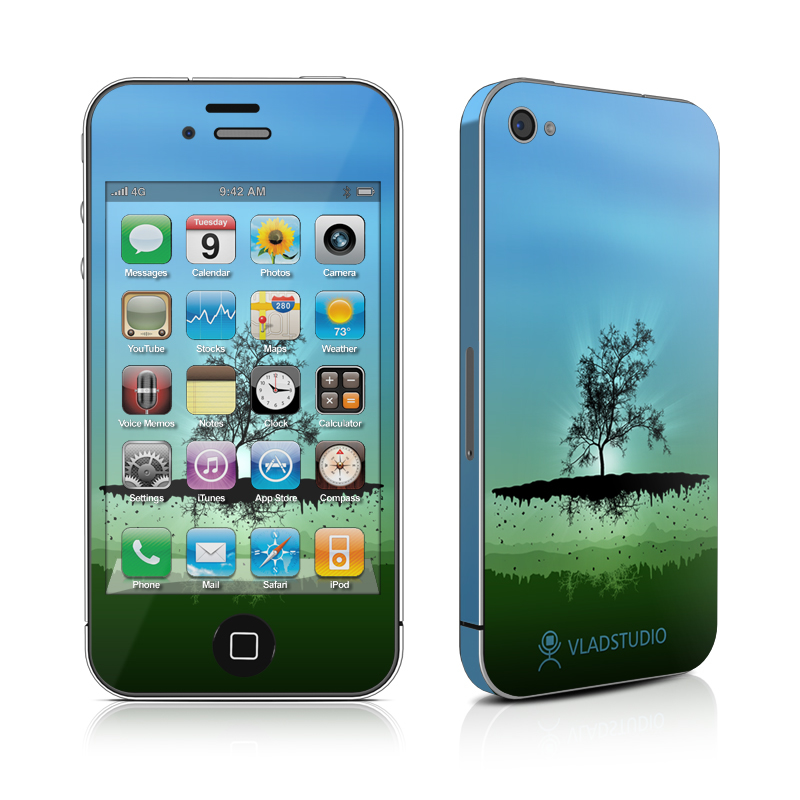 Flying Tree Blue iPhone 4 Skin