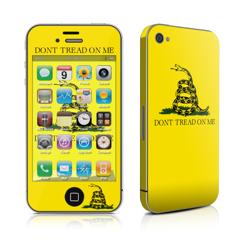 Gadsden Flag iPhone 4 Skin