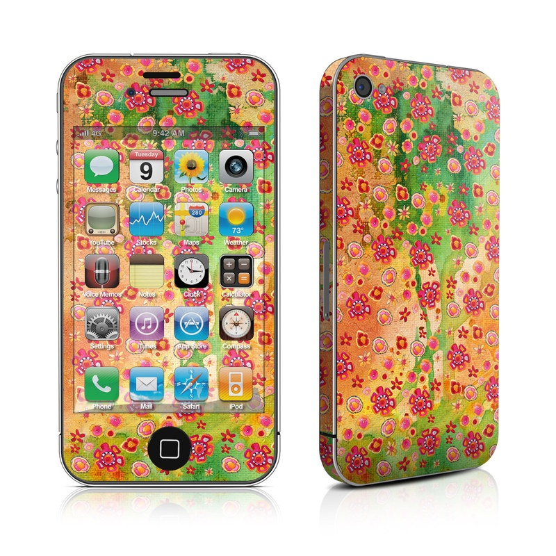 Garden Flowers iPhone 4s Skin