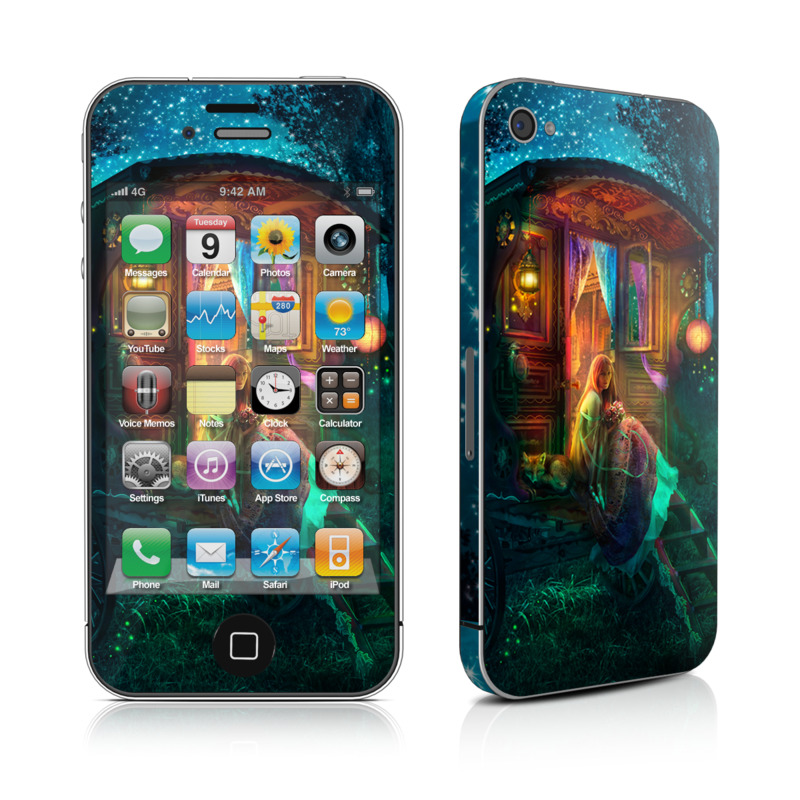 iPhone 4s Skin design of Illustration, Adventure game, Darkness, Art, Digital compositing, Fictional character, Games with black, red, blue, green colors
