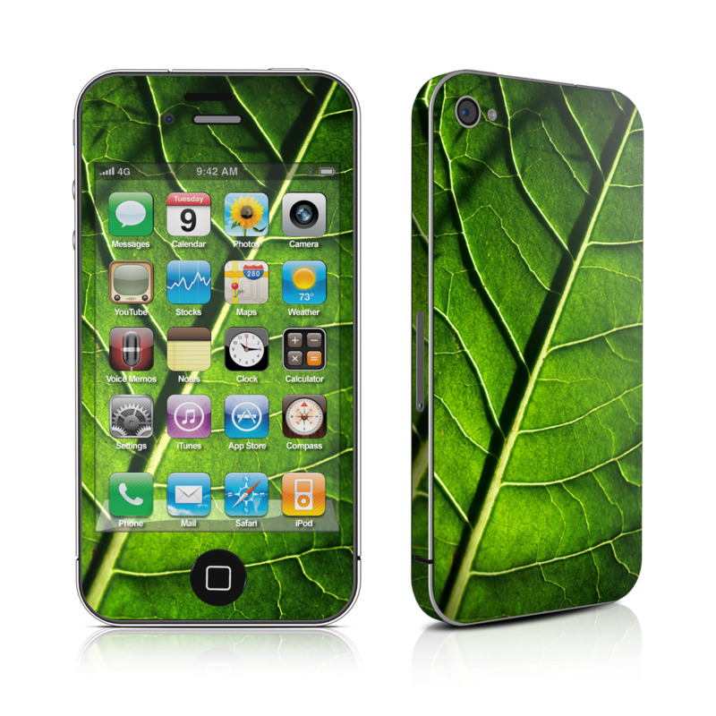 Green Leaf iPhone 4 Skin