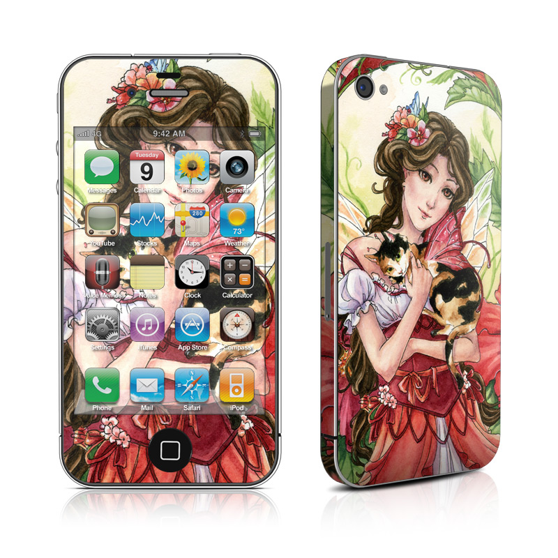 Hibiscus Fairy iPhone 4s Skin