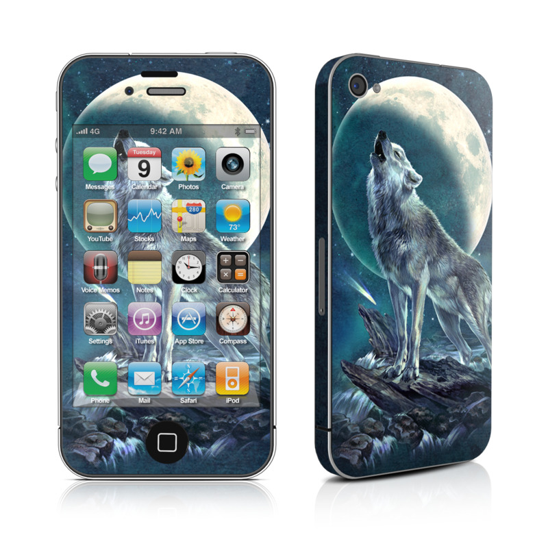 Howling Moon Soloist iPhone 4 Skin