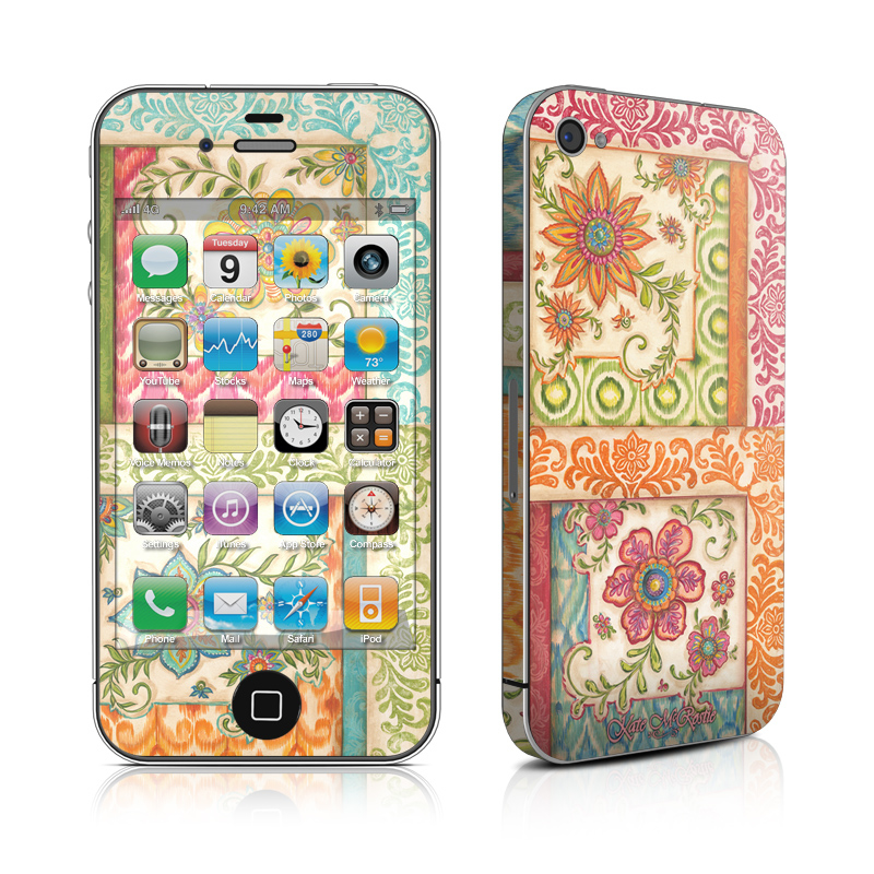 Ikat Floral iPhone 4s Skin