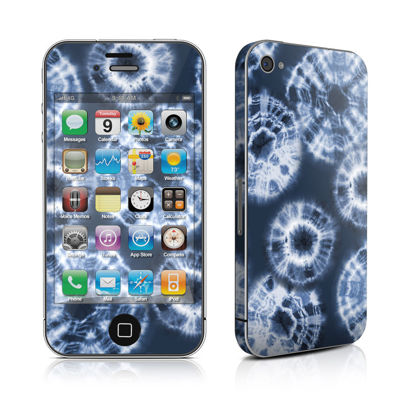 iPhone 4s Skin design of Blue, Organism, Pattern, Design, Electric blue, Font, Textile, Circle, Lace, Symmetry with gray, black, blue colors