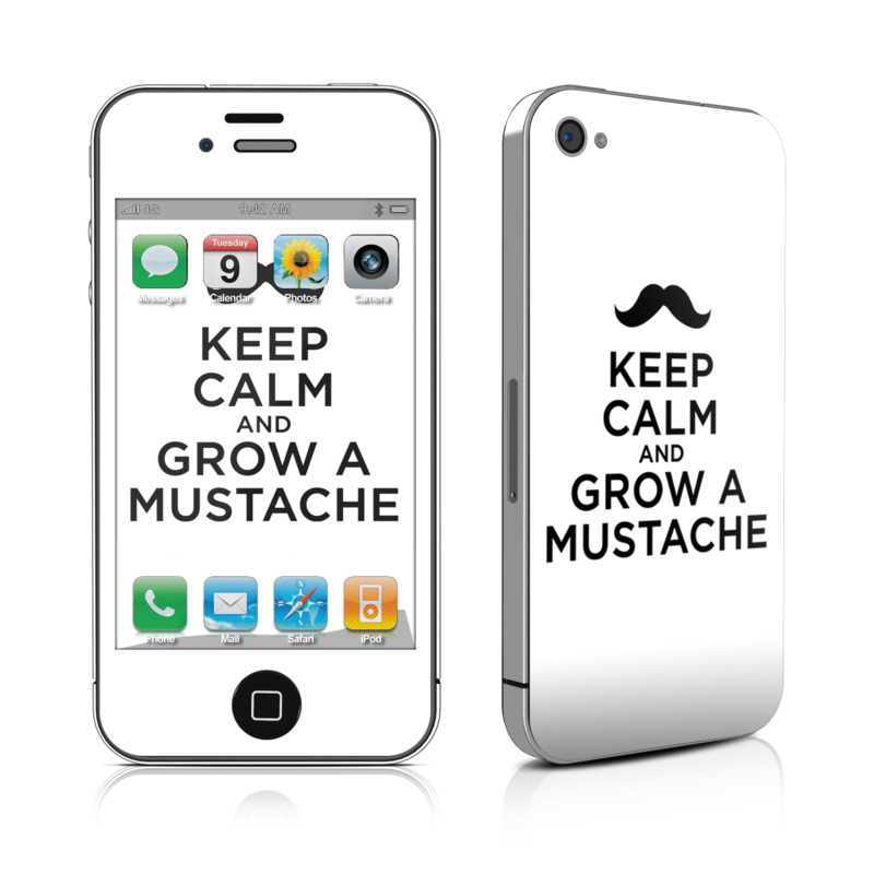 iPhone 4s Skin design of Hair, Moustache, Font, Hairstyle, Facial hair, Text, Logo, Beard, Brand, Graphics with white, black, gray colors