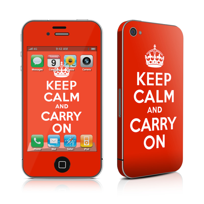 Keep Calm iPhone 4s Skin