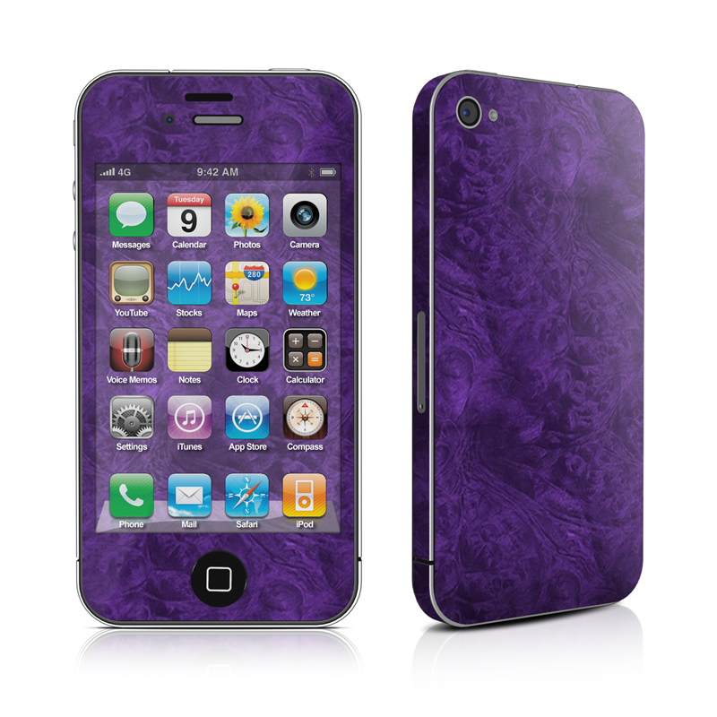 Purple Lacquer iPhone 4s Skin