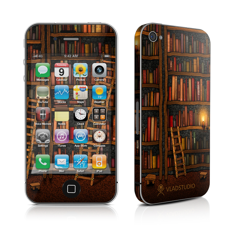 Library iPhone 4 Skin