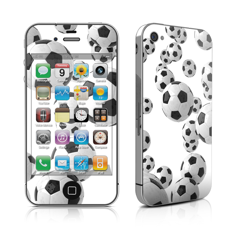 Lots of Soccer Balls iPhone 4 Skin