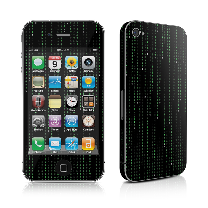 Matrix Style Code iPhone 4 Skin