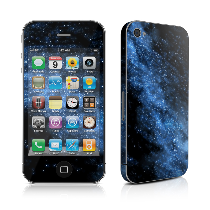 iPhone 4s Skin design of Sky, Atmosphere, Black, Blue, Outer space, Atmospheric phenomenon, Astronomical object, Darkness, Universe, Space with black, blue colors