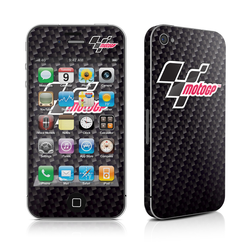 MotoGP Carbon Fiber Logo iPhone 4s Skin