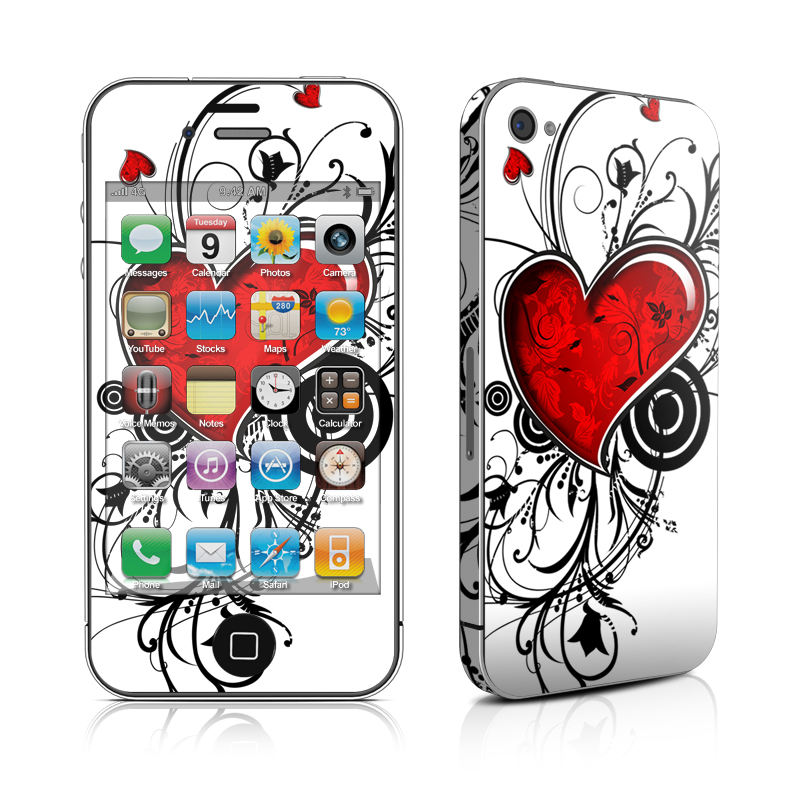 My Heart iPhone 4 Skin