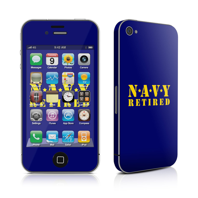 Navy Retired iPhone 4s Skin