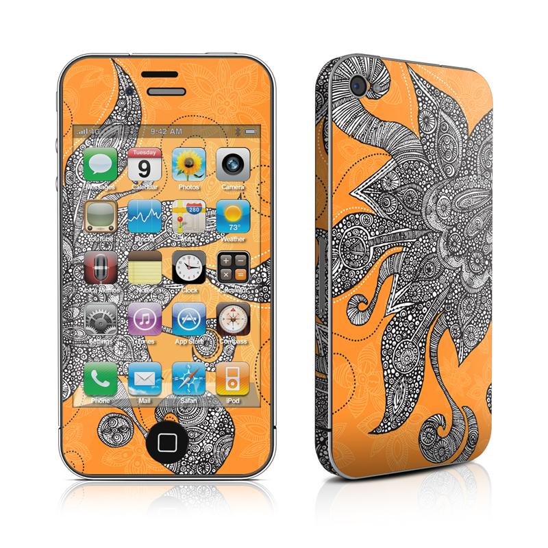 Orange Flowers iPhone 4 Skin