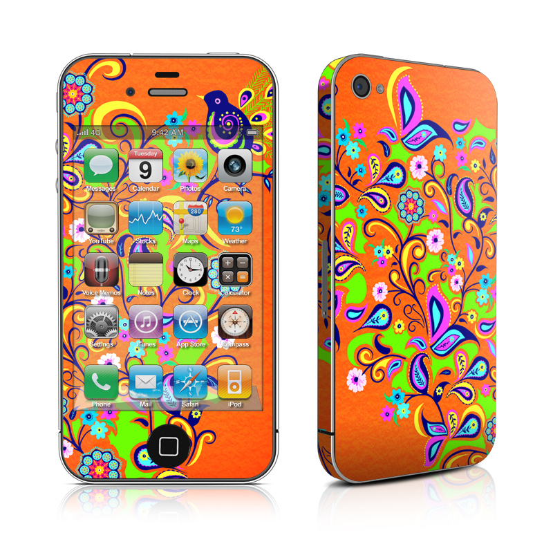 Orange Squirt iPhone 4s Skin