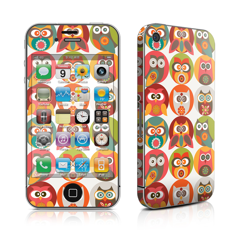 Owls Family iPhone 4 Skin